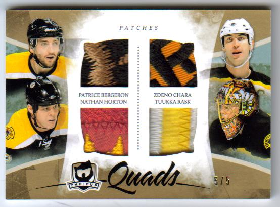 2010-11 The Cup Quads Patch C4-BRUINS /Bergeron/Horton/Rask [5/5]