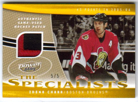 2006-07 UD Powerplay Specialists Patches SZC [5/5]