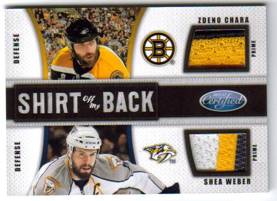 2011-12 Panini Certified Shirt Of My Back Combos Prime Signature 6 /Weber /10 front